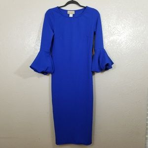 NWT Ella Samani Royal Blue Pencil Dress
